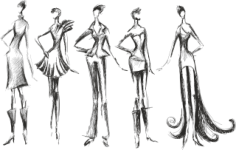 Fashion Silhouettes Free CDR Vectors Art