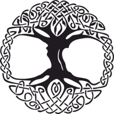 Celtic Tree of Life Vinyl Window Sticker Free CDR Vectors Art