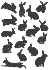 Rabbit Silhouette Free CDR Vectors Art
