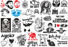 Popular Stickers Pack Free CDR Vectors Art