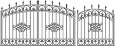 Forged Gates Sketch Free CDR Vectors Art