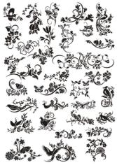 Decorative Elements Floral Ornaments Free CDR Vectors Art