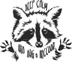 Funny Touching Raccoon Wants Hug Cuddle Free CDR Vectors Art
