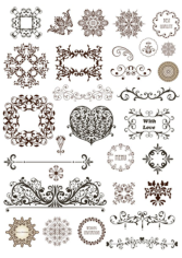 Vector Vintage Ornament Divide Border Free CDR Vectors Art