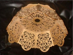 Lamp Shade Scroll Saw Laser CNC Plans Free CDR Vectors Art