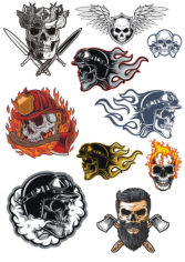 Skull Illustration Set Free CDR Vectors Art
