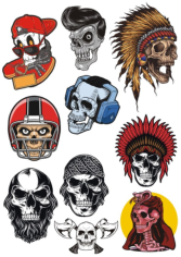 Skulls Set Free CDR Vectors Art
