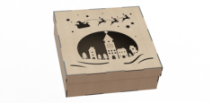 Box Made Of Plywood With A Pattern Cut By Laser Free CDR Vectors Art