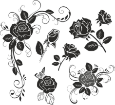 Flower Rose Free CDR Vectors Art