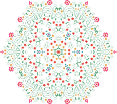 Flower Mandala Free CDR Vectors Art