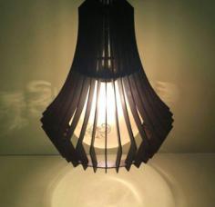 Wooden Lamp Shade Free CDR Vectors Art