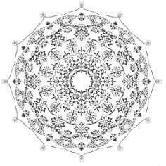 Mandala De Free CDR Vectors Art