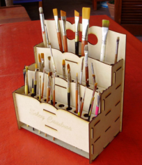 Brush Organizer Laser Cutting Free CDR Vectors Art
