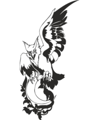 Eagle Wolf Moon Free CDR Vectors Art