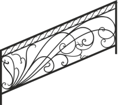 Decorative Deck and Porch Railing Free CDR Vectors Art