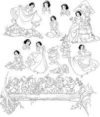 Pretty Snow White And Seven Dwarfs Grumpy Free CDR Vectors Art
