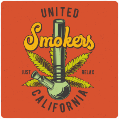 United Smokers Print Free CDR Vectors Art