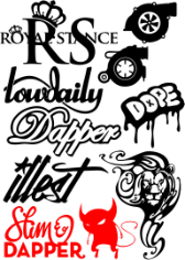 Random Car Sticker Vector Pack Free CDR Vectors Art