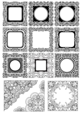 Square Frame Ornamental Free CDR Vectors Art