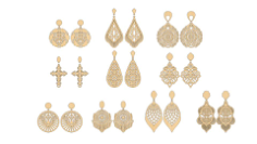 Vectors for cutting earrings Free CDR Vectors Art