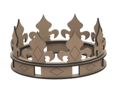 Crown Laser Cut Shape Free CDR Vectors Art