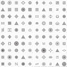 Geometric Premade Logo Set Free CDR Vectors Art