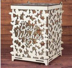 Wedding box for money Butterflies Free CDR Vectors Art