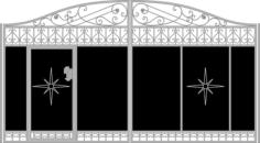Vector Gate Wicket Fence Free CDR Vectors Art