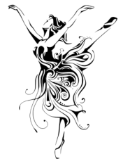 Ballerina Female Dancer Free CDR Vectors Art