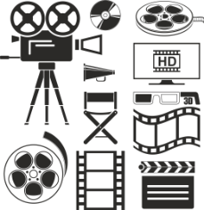 Movie Icons Set Free CDR Vectors Art