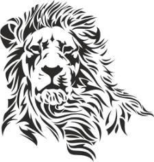 Lion Head Stencil Free CDR Vectors Art