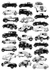 Vintage car Free CDR Vectors Art