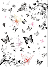 Super multi black and white butterfly Free CDR Vectors Art