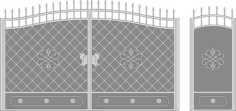 Metal Gate Forged Ornaments Free CDR Vectors Art