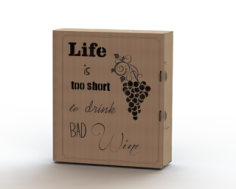Laser cut wine box plans Free CDR Vectors Art