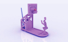 Basketball Pen Holder Stand 3mm Free CDR Vectors Art