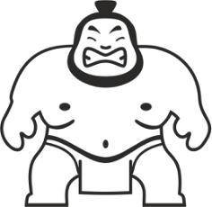Sumo Wrestler Sticker Free CDR Vectors Art