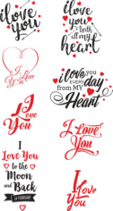 I Love U Free CDR Vectors Art