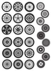 Steampunk Gear Vector Set Free CDR Vectors Art