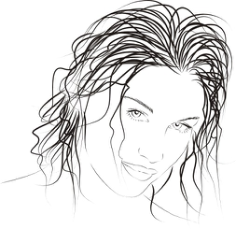 Drawn woman Free CDR Vectors Art