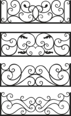 Steel Balcony Rails Free CDR Vectors Art