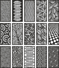 Modern Room Dividers Patterns Free CDR Vectors Art