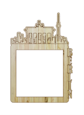 Laser Cut Photo Frame Berlin Free CDR Vectors Art