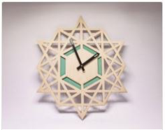 Clock Laser Cut Free CDR Vectors Art