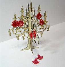 Candlestick Jewelry Hanger Laser Cut Free CDR Vectors Art