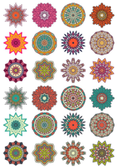 Round Floral Curly Ornament Vector Pack Free CDR Vectors Art