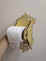 Toilet Paper Holder Laser cut Free CDR Vectors Art