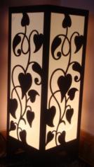 Room Lamp DIY 3d Puzzle Free CDR Vectors Art