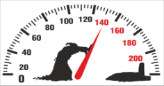 Death pushing arrow of speedometer Car Sticker Free CDR Vectors Art