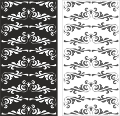 Laser cut floral ornament pattern Free CDR Vectors Art